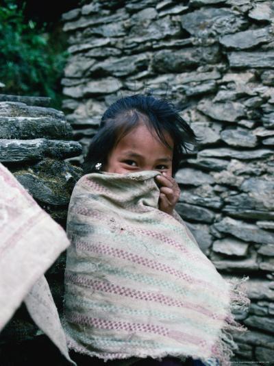 Shy Gurung Girl, Nepal-Shannon Nace-Photographic Print