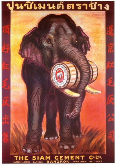 Siam Cement Company-R^ Wening-Art Print