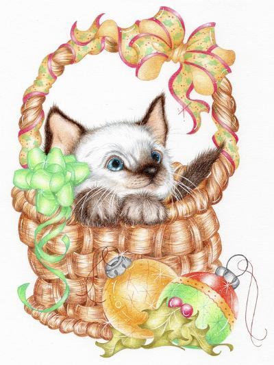 Siamese Christmas-Karen Middleton-Giclee Print