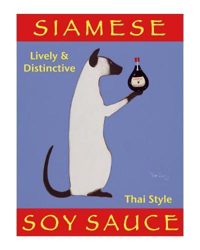 Siamese Soy Sauce-Ken Bailey-Collectable Print