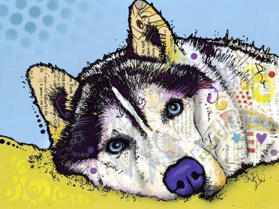 Siberian Husky-Dean Russo-Giclee Print