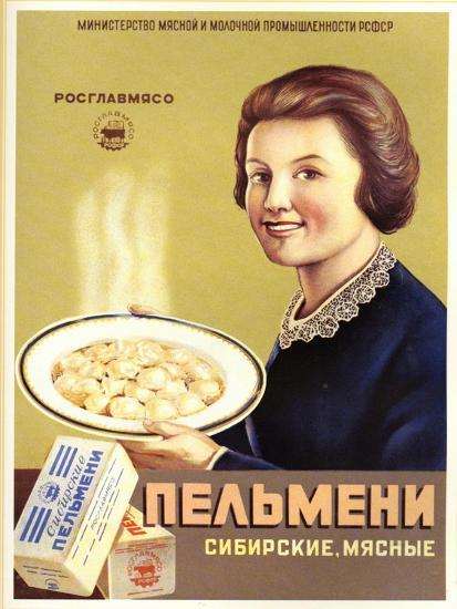 Siberian Meat - Pelmeni - Meat Stuffed in Pastry--Art Print