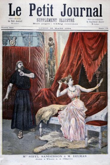 Sibyl Sanderson and Delmas in Jules Massenet 's Opera Thais, Paris, 1894-Oswaldo Tofani-Giclee Print