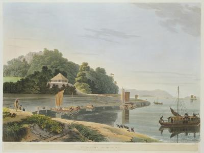 Siccra Gully on the Ganges, Plate IX from Part 6 of 'Oriental Scenery', Pub. 1804-Thomas & William Daniell-Giclee Print