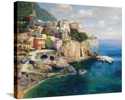 Sicilian Coast-Gasini-Stretched Canvas Print