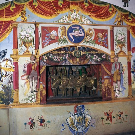 Sicilian marionette theatre. Artist: Unknown-Unknown-Giclee Print