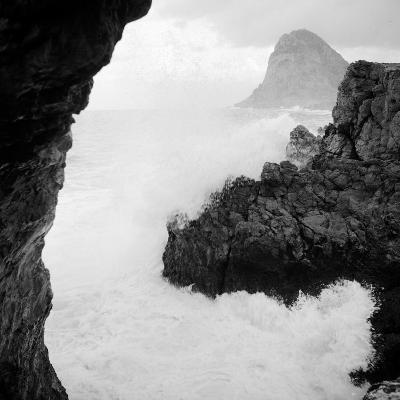 Sicily: Sea Storm in Cape Zafferano--Photographic Print