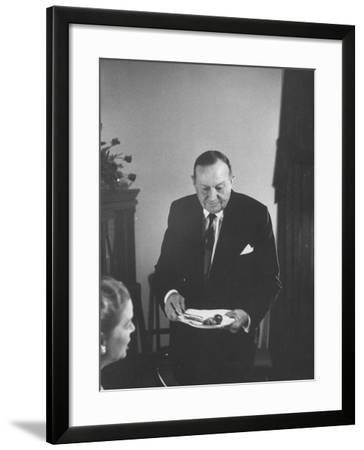Sid Richardson at the Opening of the Sam Rayburn Library--Framed Photographic Print