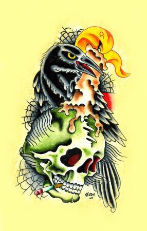 sid-stankovits-crow-skull