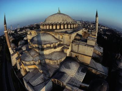 Side Domes and Added Minarets Gather About the Great Vault of Hagia Sophia-James L^ Stanfield-Photographic Print