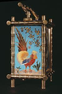 Side Panel of French Chinoiserie Carriage Clock