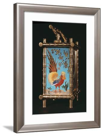 Side Panel of French Chinoiserie Carriage Clock--Framed Photographic Print
