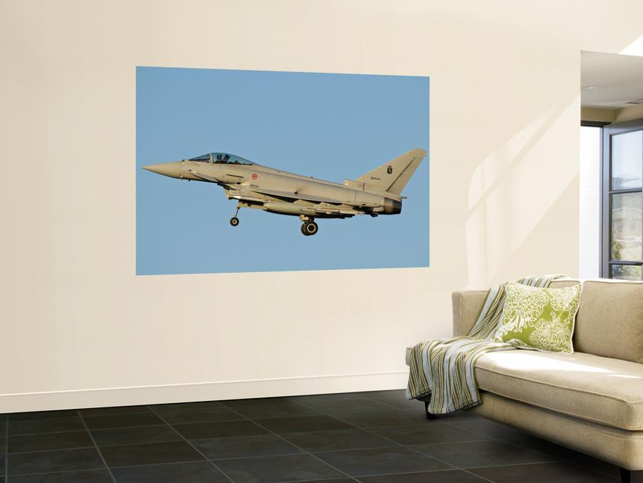 Side View of an Italian Air Force Eurofighter Typhoon Wall Mural by  Stocktrek Images | Art com