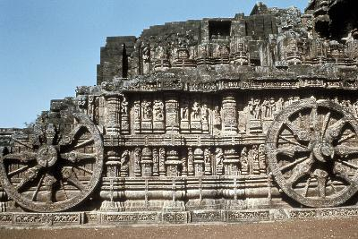 Side Wall of the Chariot, Temple of the Sun, Konarak, India, 13th Century--Photographic Print