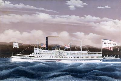 Side-Wheele Steamer Seawanhaka-James Bard-Giclee Print