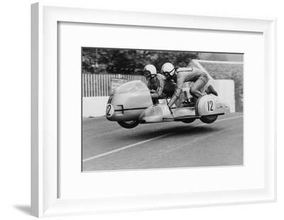 Sidecar TT Race, Isle of Man, 1970--Framed Photographic Print