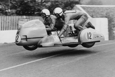Sidecar TT Race, Isle of Man, 1970--Photographic Print