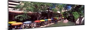 Sidewalk Cafe at the Riverside, San Antonio River Walk, River San Antonio, San Antonio, Texas, USA