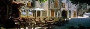 Sidewalk Cafe in a Village, Claviers, Var, Provence-Alpes-Cote D'Azur, France