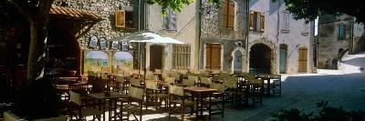 Sidewalk Cafe in a Village, Claviers, Var, Provence-Alpes-Cote D'Azur, France--Photographic Print