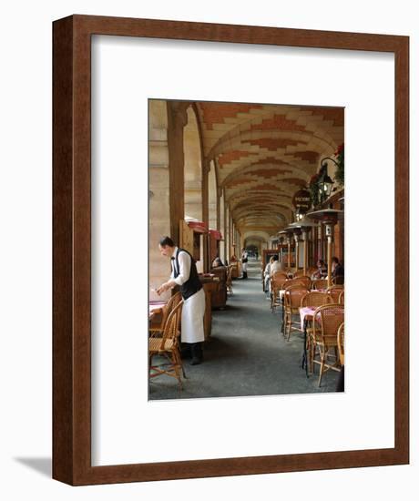 Sidewalk Cafe in the Marais, Paris, France-Lisa S^ Engelbrecht-Framed Photographic Print