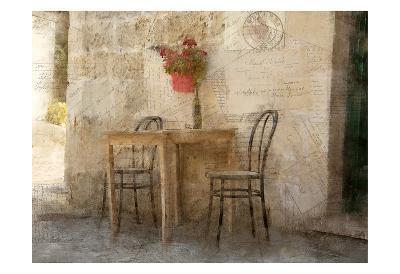 Sidewalk Cafe-Kimberly Allen-Art Print