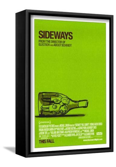 Sideways--Framed Canvas Print