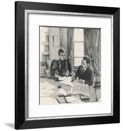 Sidney and Beatrice Webb Economists and Social Theorists Working Together-Bertha Newcombe-Framed Giclee Print
