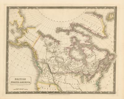 British North America, 1829