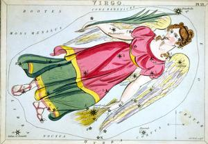 Constellation: Virgo, 1825 by Sidney Hall