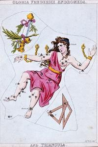 Constellations of Andromeda and Triangula, C1820 by Sidney Hall
