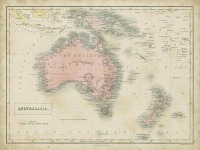 Map of Australia by Sidney Hall