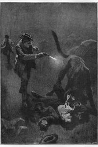 The Hound of the Baskervilles Holmes Shoots the Sinister Hound by Sidney Paget