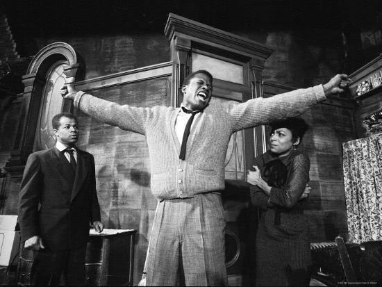 "Sidney Poitier in Dramatic Scene from Play ""A Raisin in the Sun ..."