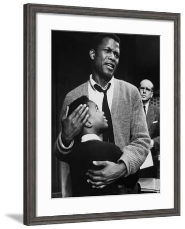 Sidney Poitier in Scene from A Raisin in the Sun-Gordon Parks-Framed Premium Photographic Print