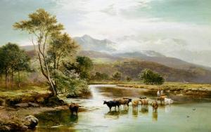 Cader Idris from the River Mawddach by Sidney Richard Percy
