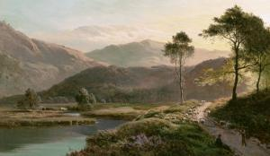 View of Ambleside, Westmoreland by Sidney Richard Percy