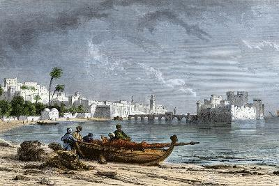 Sidon, a Chief Seaport of Ancient Phoenicia on the Mediterranean--Giclee Print