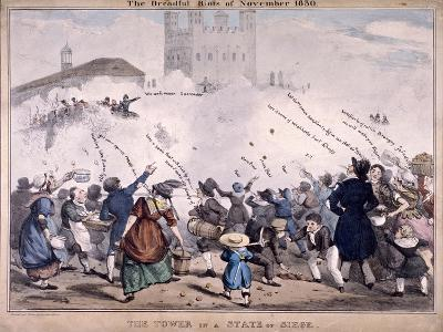 Siege at the Tower of London, 1830--Giclee Print