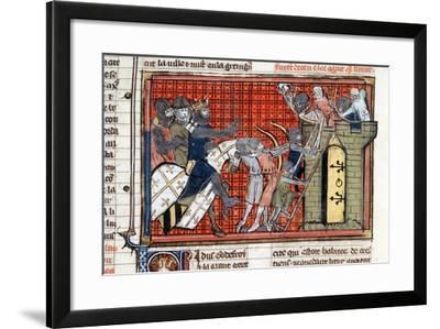 Siege of a Town Led by Godefroy De Bouillon, C1099--Framed Giclee Print