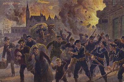 Siege of Antwerp, World War I, 9 October 1914--Giclee Print