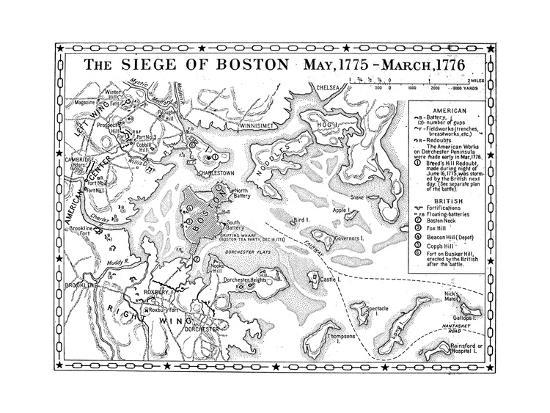 Siege Of Boston Map Giclee Print By Art Com