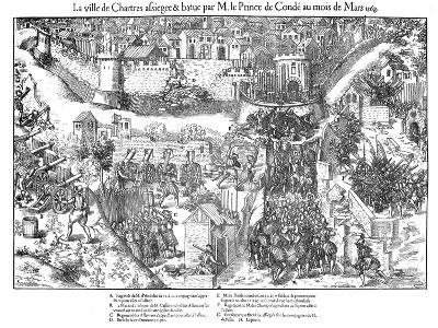 Siege of Chartres, French Religious Wars, 1568-Jacques Tortorel-Giclee Print