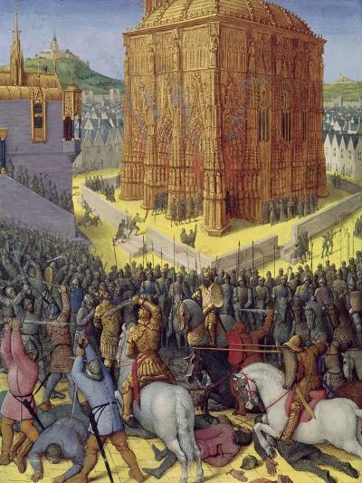 Siege of Jerusalem by Nebuchadnezzar, Illustration from the French Translation-Jean Fouquet-Giclee Print