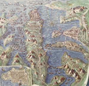 Siege of Malta, Detail from the Galleria Delle Carte Geografiche, 1580-83