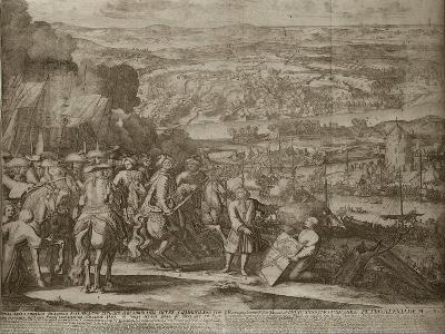 Siege of the Turkish Fortress Azov by Russian Forces in 1696, Um 1700-Adriaan Schoonebeek-Giclee Print