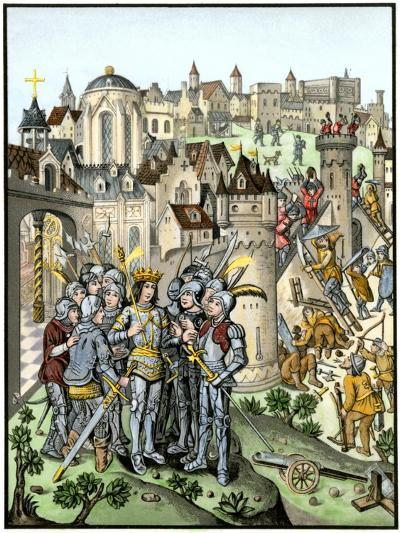 Siege of Town Defended by the Burgundians under Charles Vi, Hundred Years' War--Giclee Print