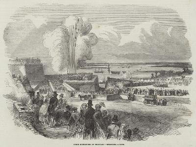 Siege Operations at Chatham, Springing a Mine--Giclee Print