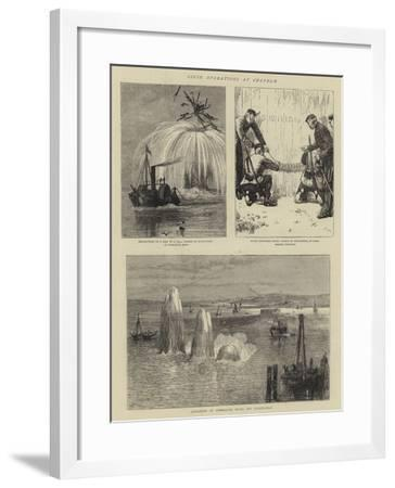 Siege Operations at Chatham--Framed Giclee Print