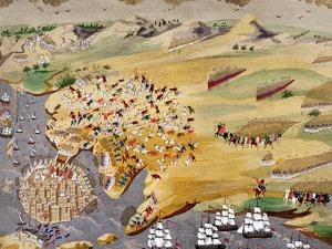 Sieges of Missolonghi and the Death of Lord Byron in 1824 from the Greek War of Independence
